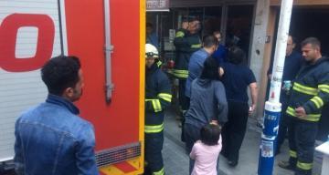 Elektrik kontağından çıkan yangın paniğe neden oldu!