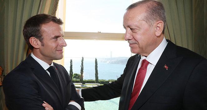 Erdoğan, Macron ile biraraya geldi