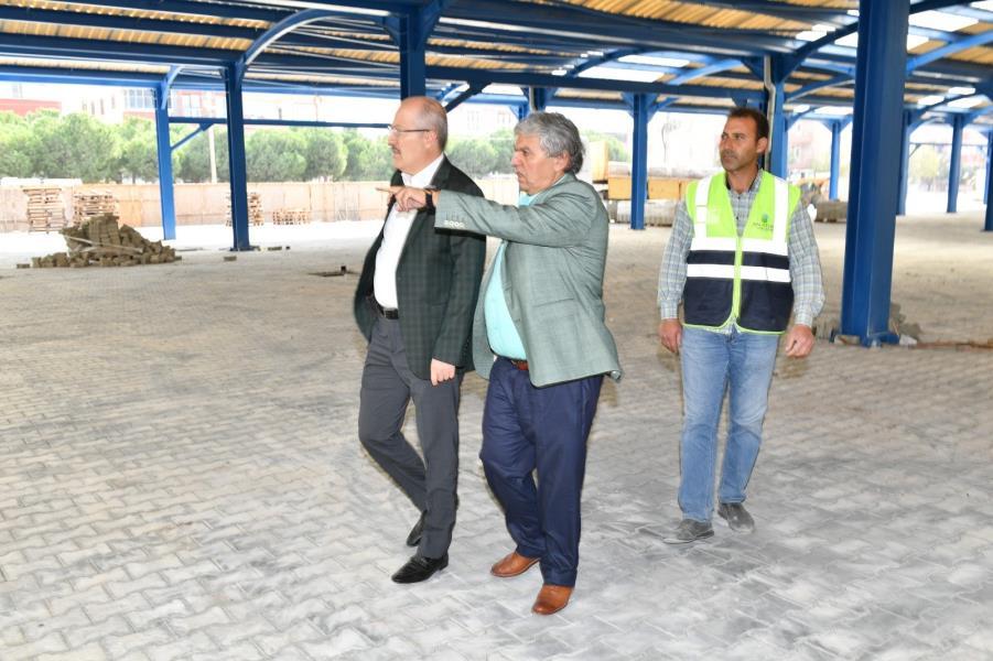 Başkan Kafaoğlu pazar yerini inceledi
