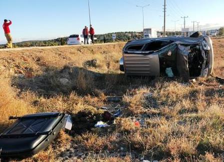 Ayvalık'ta trafik kazası 1 yaralı