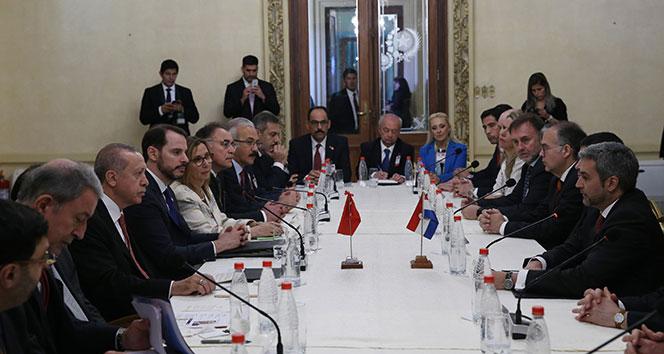 Cumhurbaşkanı Erdoğan, Paraguay Devlet Başkanı Benitez ile görüştü