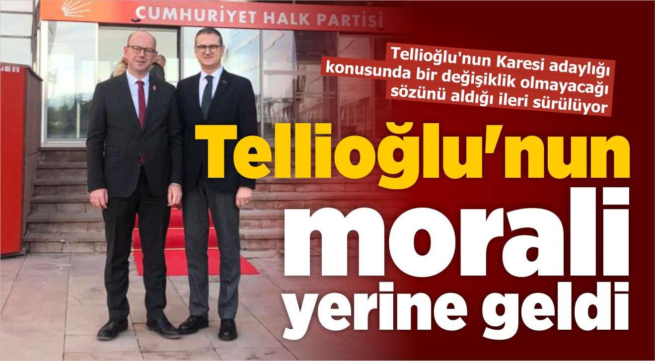 TELLİOĞLU'NUN MORALİ YERİNE GELDİ