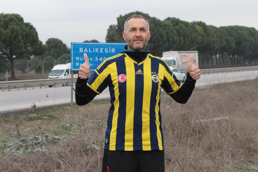 Fenerbahçe için İzmir'den İstanbul'a koşu totemi