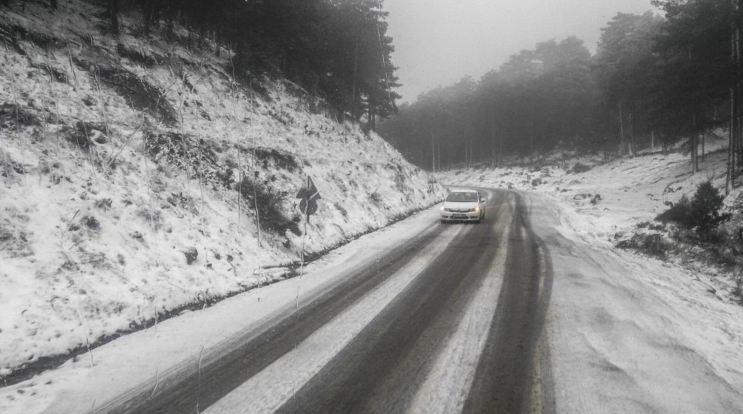 Kazdağları'nda kar yağışı etkili oldu
