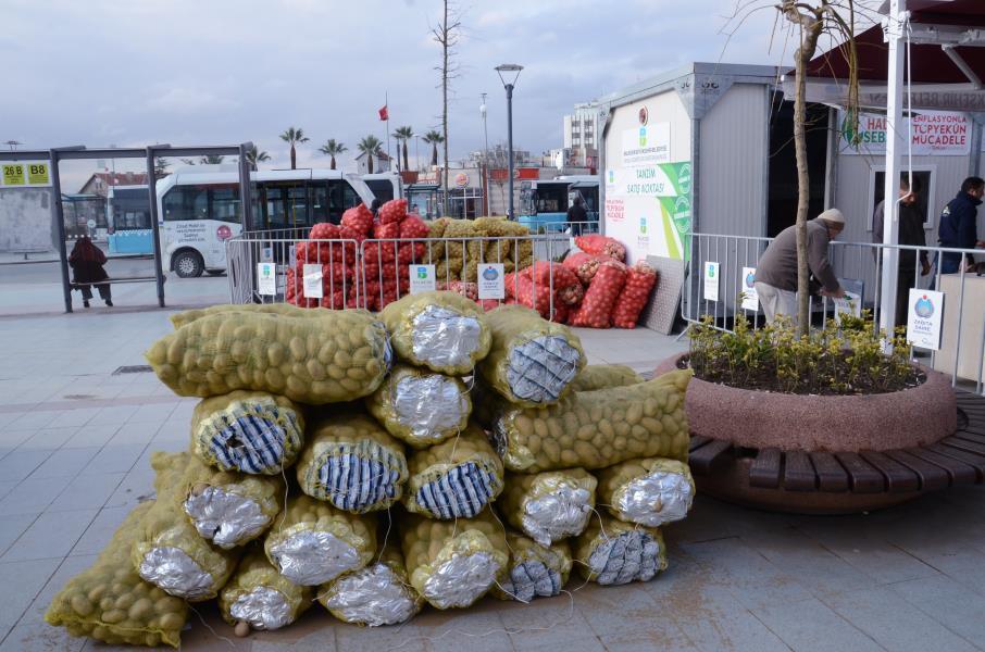 2 günde 15 ton patates satıldı