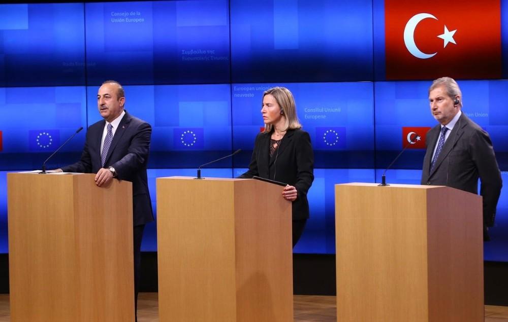 Bakan Çavuşoğlu 'AB ile hemfikir olmasak da, düşüncelerimizi karşılıklı paylaşıyoruz'