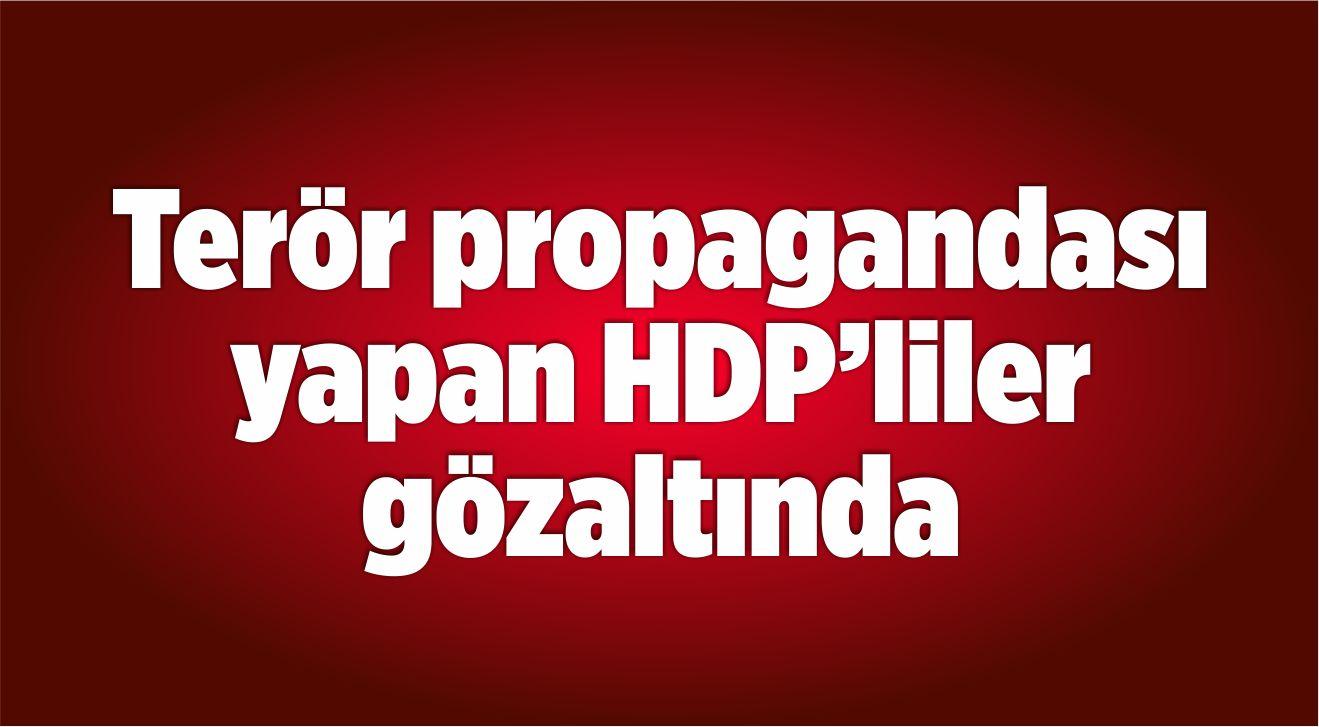 Terör propagandası yapan HDP'liler gözaltına alındı