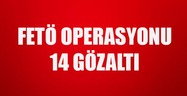 Balıkesir'de FETÖ operasyonunda 14 kişi yakalandı