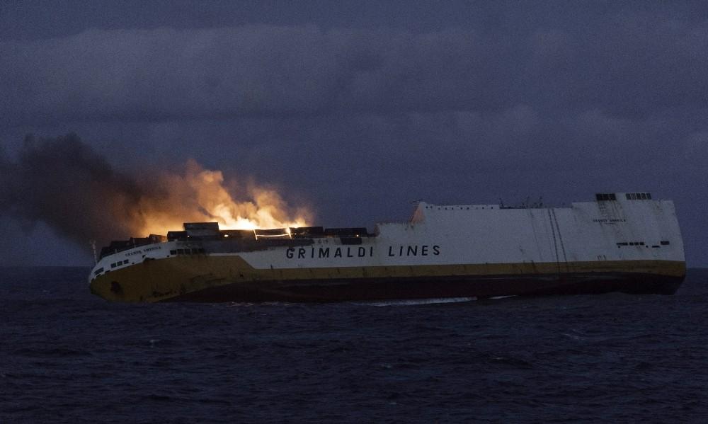 İtalyan gemisi 'Grande America' Fransa açıklarında battı