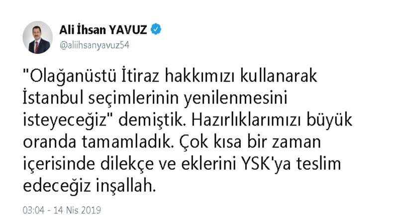 AK Parti Genel Başkan Yardımcısı Yavuz'dan 'olağanüstü' itiraz açıklaması