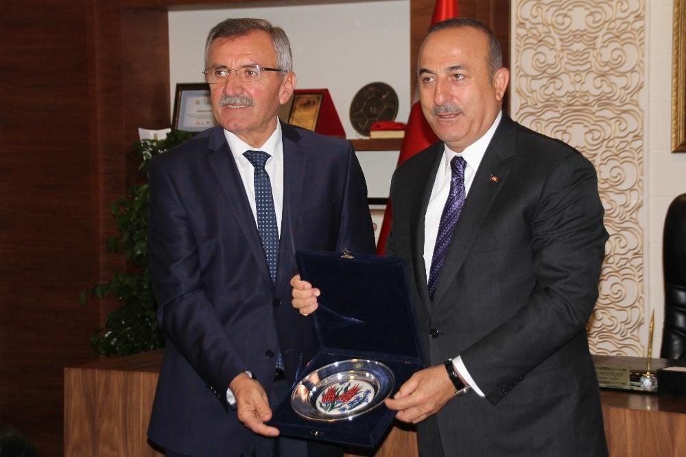 Dışişleri Bakanı Çavuşoğlu 'Oy veren vermeyen herkesi hizmetlerimizle kucaklayacağız'