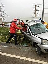 Bandırma'da trafik kazası 1 ölü