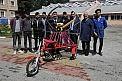 Hurda parçalardan paramotorlu 'bisiklet' ürettiler