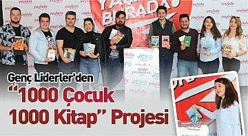 """Genç Liderler'den """"1000 Çocuk 1000 Kitap"""" Projesi"""