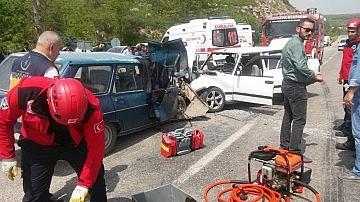 Balıkesir'de kaza 1 ölü, 6 yaralı