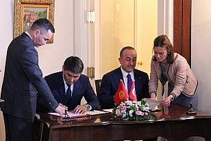 Çavuşoğlu- Aydarbekov ortak basın toplantısı