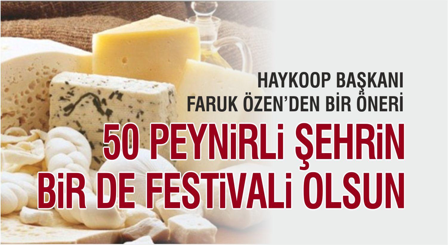 HAYKOOP BAŞKANI'NDAN ÖNERİ: PEYNİR FESTİVALİ