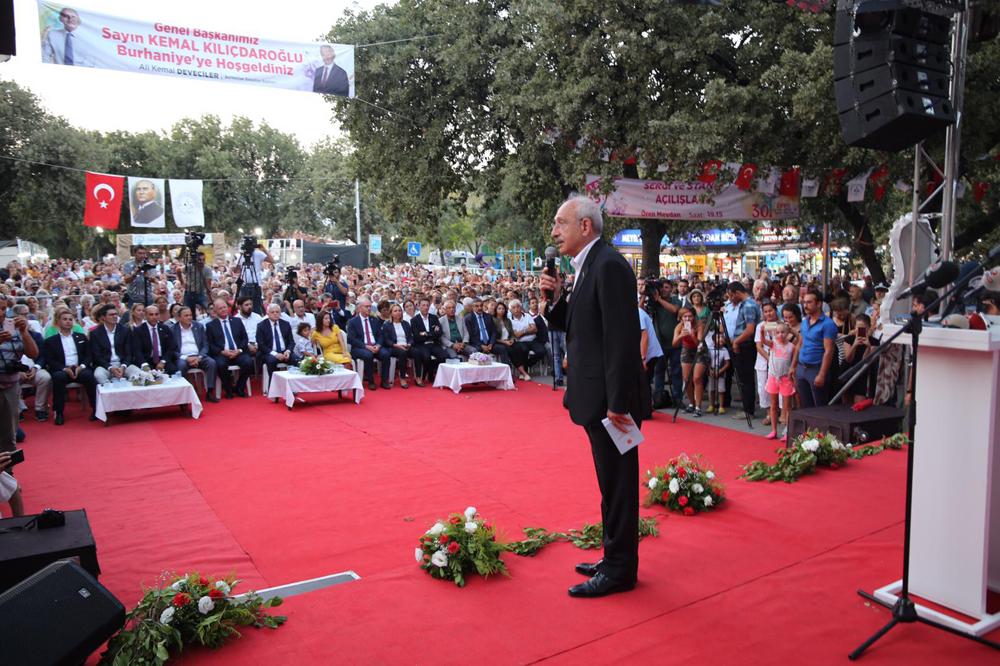 KILIÇDAROĞLU ÖREN'DE KONUŞTU: İSTANBUL'DA AŞTIK TEPEDE DE AŞACAĞIZ