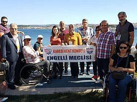 KARESİ ENGELLİ MECLİSİ AYVALIK ENGELLİLER ŞENLİĞİ'NDEYDİ