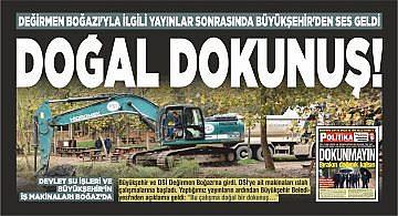 """""""BİZİMKİSİ DOĞAL DOKUNUŞ"""""""