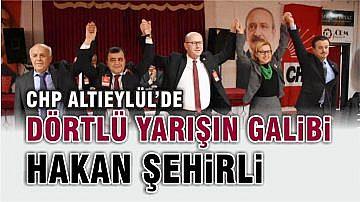 CHP ALTIEYLÜL'DE HAKAN ŞEHİRLİ KAZANDI