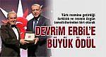 DEVRİM ERBİL'E BÜYÜK ÖDÜL