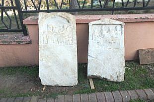 YAĞIŞLA ORTAYA ÇIKAN MEZAR TAŞLARI ROMA DÖNEMİNE AİT