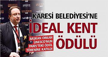 KARESİ'YE 'İDEAL KENT' ÖDÜLÜ