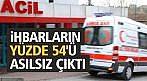 112 ACİL'E YAPILAN İHBARLARIN YÜZDE 54'Ü ASILSIZ ÇIKTI