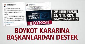 CHP GENEL MERKEZİ CNN TÜRK'Ü BOYKOT KARARI ALDI