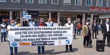 AHP MEYDANI'NDAN 1 MAYIS MESAJI VERDİLER