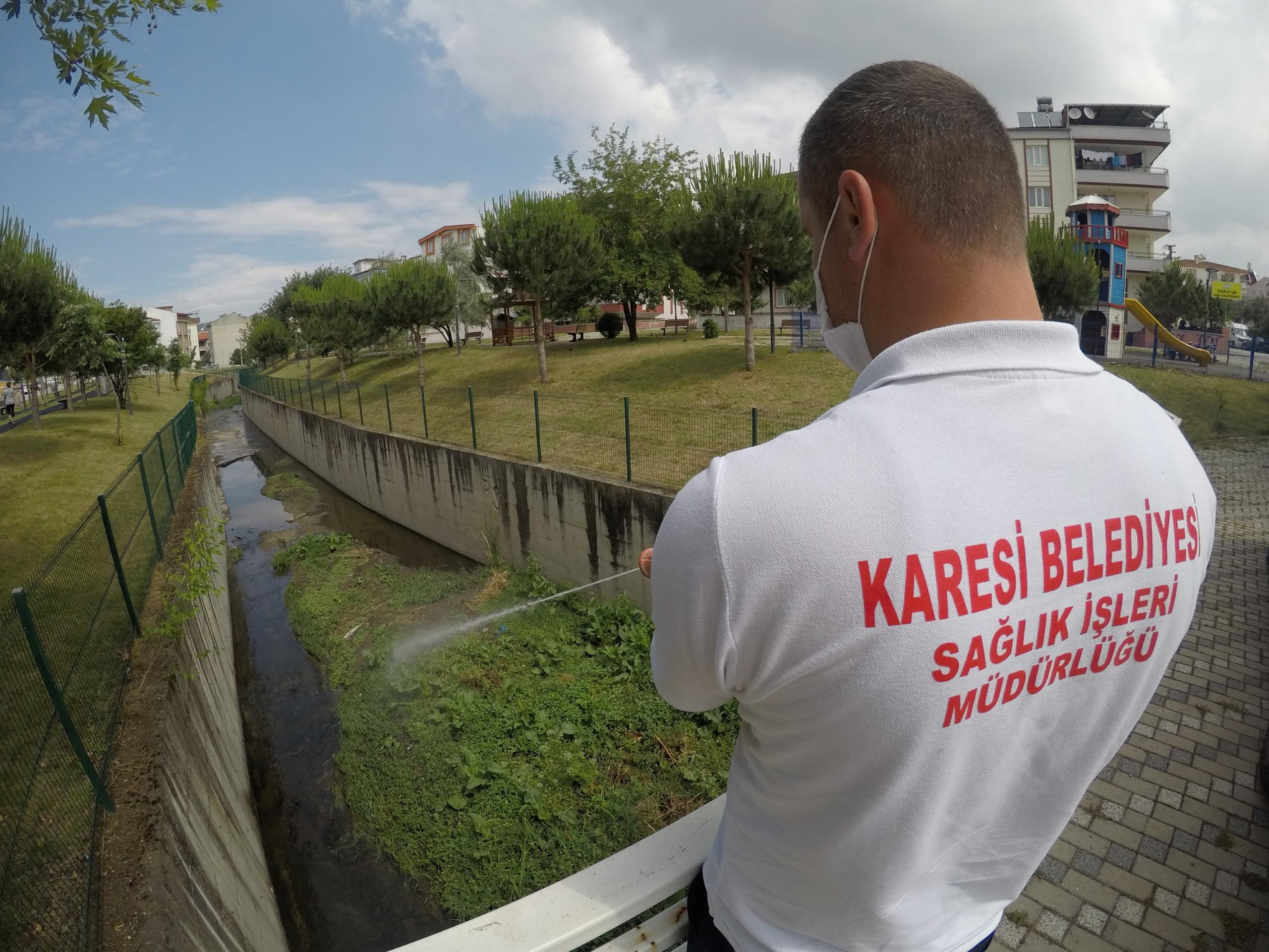 KARESİ'DE HAŞEREYLE MÜCADELEYE DEVAM
