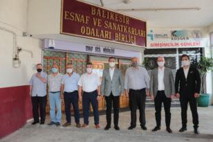 AHMET AKIN'DAN ESNAF TEŞKİLATI'NA MORAL ZİYARETİ