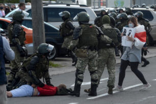BELARUS'TA 774 PROTESTOCU GÖZALTINDA