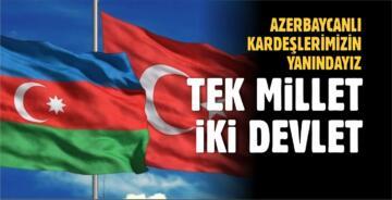 BÜYÜKŞEHİR MECLİSİ'NDEN AZERBAYCAN'A DESTEK BİLDİRİSİ