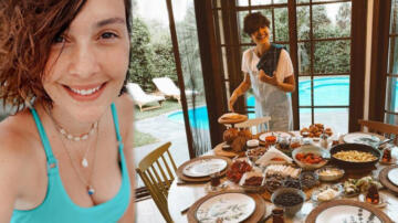Bergüzar Korel'den kahvaltı paylaşımı