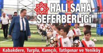 KARESİ'DE HALI SAHA SEFERBERLİĞİ