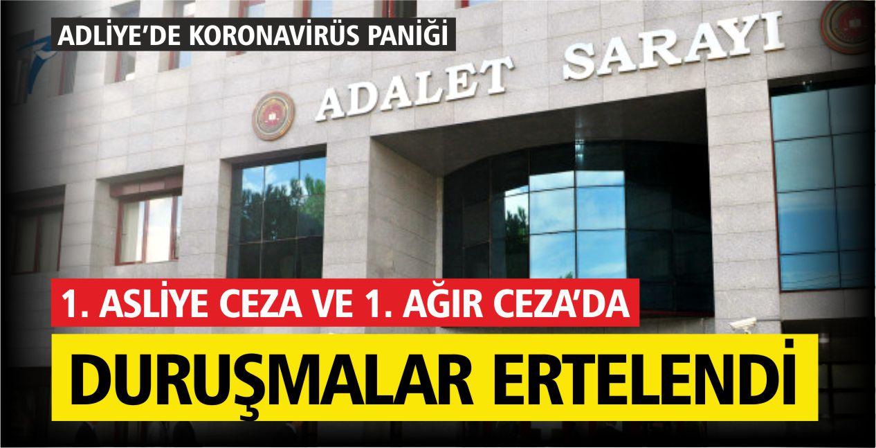 BALIKESİR ADLİYESİ'NDE COVİD-19 PANİĞİ