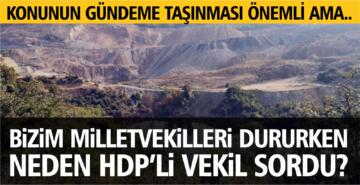 BİZİMKİLER DURURKEN NEDEN HDP'Lİ VEKİL SORDU?
