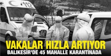 VAKALAR HIZLA ARTIYOR! 45 MAHALLE KARANTİNADA