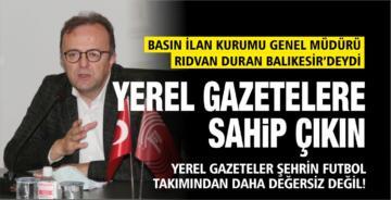 """""""YEREL GAZETELER ŞEHRİN FUTBOL TAKIMINDAN DAHA DEĞERSİZ DEĞİL"""""""
