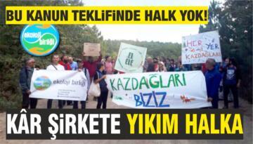 """EKOLOJİ BİRLİĞİ'NDEN """"TORBA YASAYI GERİ ÇEKİN"""" UYARISI"""