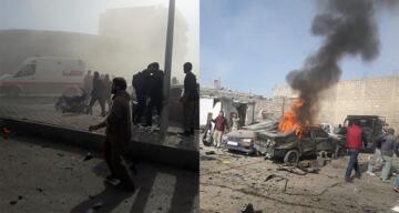 El Bab'da bombalı yüklü araç patladı