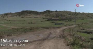 Ermenistan işgalinden kurtarılan Balasoltanlı köyü görüntülendi