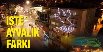 ATATÜRK'ÜN SİLUETİ AYVALIK'TA