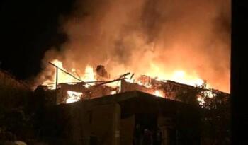 Sındırgı'daki yangında 5 ev zarar gördü, 1 kişi yaralandı, 1 kişi aranıyor