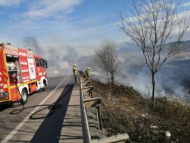 Susurluk'ta sazlık yangını