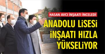 Cumhuriyet Anadolu Lisesi inşaatı hızla yükseliyor