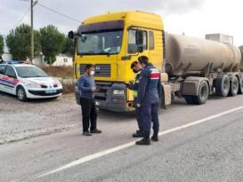 Jandarma trafik 287 araca 153 bin lira ceza uyguladı
