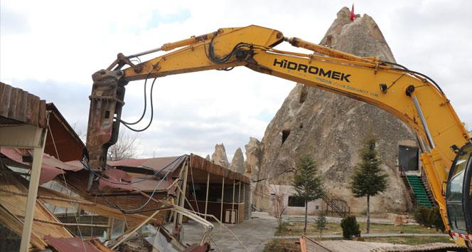 Kapadokya'da 305 kaçak yapı yıkılacak